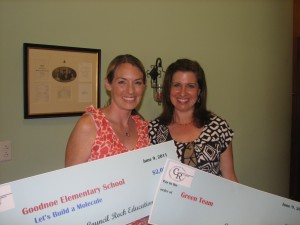 Teachers are all smiles when receiving grant awards!