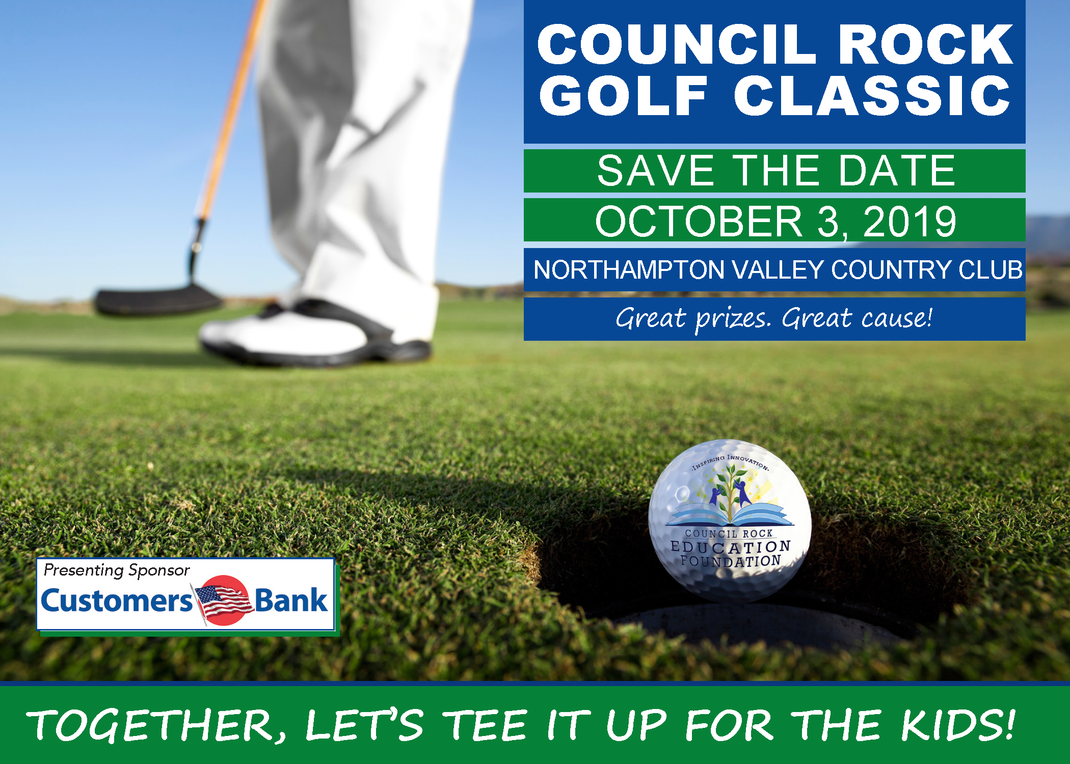 c70cb11e09 Join us on October 3, 2019, at the Northampton Valley Country Club for our  first annual Council Rock Golf Classic. Win prizes, Hole-in-One chance,  awards, ...